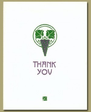 Grape Pendant Thank You Cards - Product Image