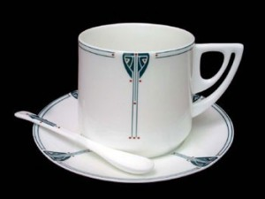 Viennese Pendant Cup & Saucer with Spoon - Product Image
