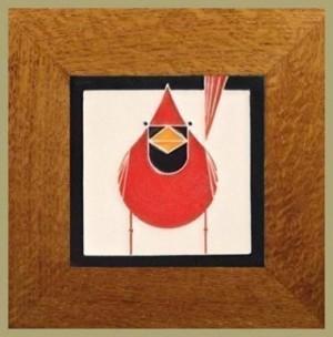 4x4 Cardinal tile - Product Image