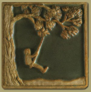 Children's Series Boy Swinging Tile - Product Image