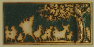 Piper Tile with Detailed Tree - Product Image