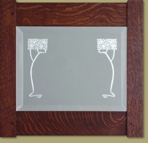 Etched Tree Mirror - Product Image