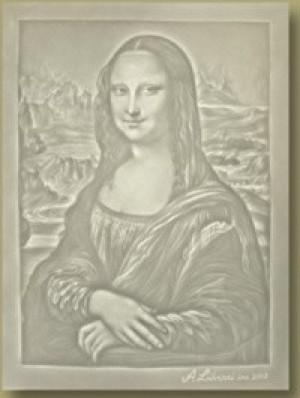 Watermark - Detail from Da Vinci's Mona Lisa - Product Image