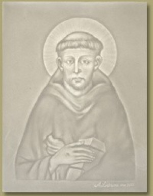 Watermark - Detail from a Cimabue fresco of St. Francis - Product Image