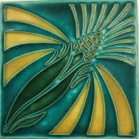 6 x 6 Turquoise Corn Tile by Motawi Tileworks - Product Image