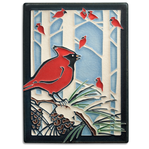 6 x 8 Winter Cardinals - Product Image