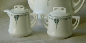 Viennese Pendant Sugar Bowl with lid - Product Image