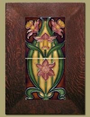 Double Daffodil Framed Tiles - Rose Mauve - 65C - Product Image