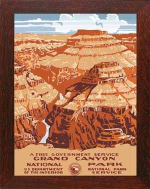GRAND CANYON, WPA National Park Poster - Product Image