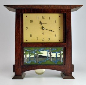Pendulum Mantle Clock with 8X4 Tile - Product Image
