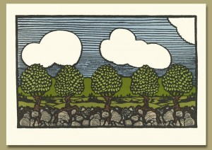 Letterpress Printed Pear Trees from Nature - Product Image