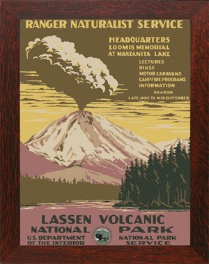LASSEN VOLCANIC, WPA National Park Poster - Product Image