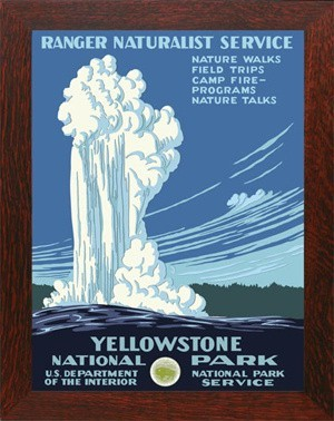 YELLOWSTONE, WPA National Park Poster - Product Image