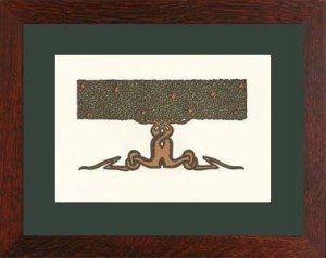 Oak Park framed Nature Tree Notecard - Product Image