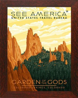 GARDEN OF THE GODS, WPA National Park Poster - Product Image