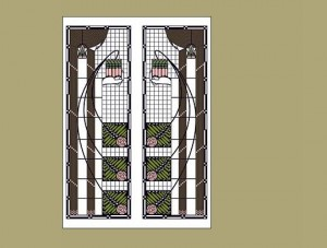 Dard Hunter Viennese Window Adaptation, Single Notecard - Product Image