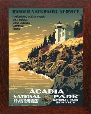 ACADIA NATIONAL PARK, WPA Framed Poster - Product Image