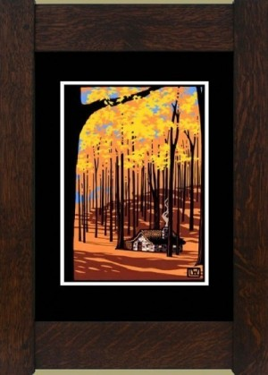 Autumn Cottage, Laura Wilder's Limited Edition Giclee Print - Product Image