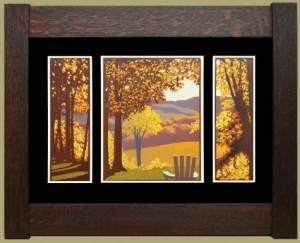 Autumn Hills, Laura Wilder's Limited Edition Block Print - Product Image