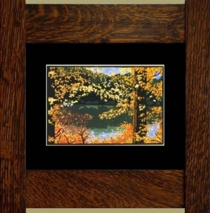 Autumn Pond, Laura Wilder's Signed Mini-giclee - Product Image