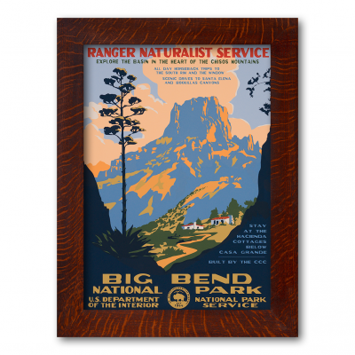 BIG BEND NATIONAL PARK, Reproduction WPA Poster - Product Image