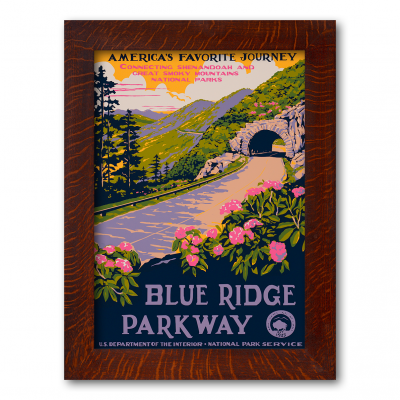 BLUE RIDGE PARKWAY, WPA-Style Poster - Product Image