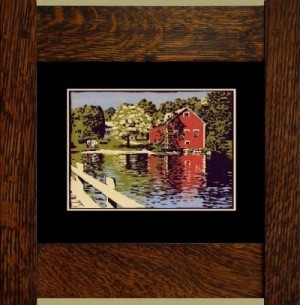 Brookfield Pond, Laura Wilder's Signed Mini-giclee - Product Image