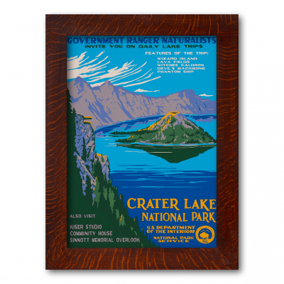 CRATER LAKE NATIONAL PARK, A Poster in the WPA tradition - Product Image