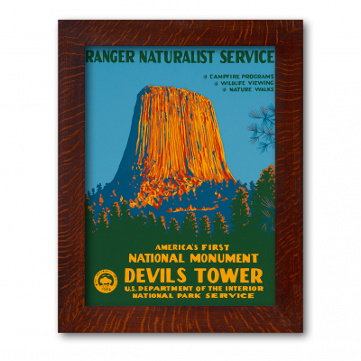 DEVIL'S TOWER NATIONAL MONUMENT, A Poster in the WPA tradition - Product Image