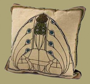 Dard Hunter Peacock Pillow - Product Image