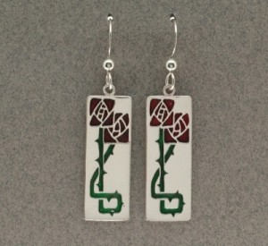 Dard Hunter Sterling Silver & Enamel Jewelry, design #201 - Product Image