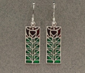 Dard Hunter Sterling Silver & Enamel Jewelry, design #206 - Product Image