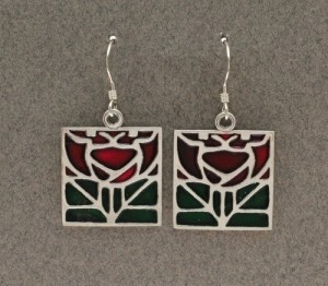 Dard Hunter Sterling Silver & Enamel Jewelry, design #217 - Product Image