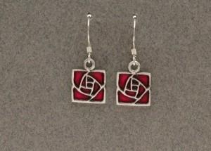 Dard Hunter Sterling Silver & Enamel Jewelry, design #224 - Product Image