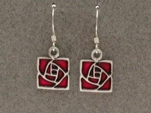 Dard Hunter Sterling Silver & Enamel Jewelry, design #225 - Product Image