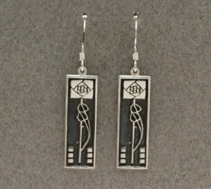Dard Hunter Sterling Silver Jewelry, design #202 - Product Image