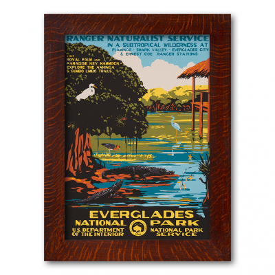 Everglades National Park, WPA Style Poster - Product Image