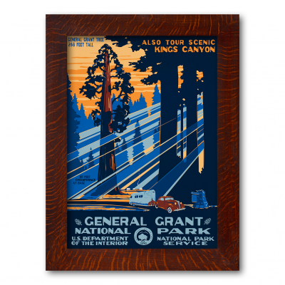 GENERAL GRANT NATIONAL PARK, A Poster in the WPA tradition - Product Image