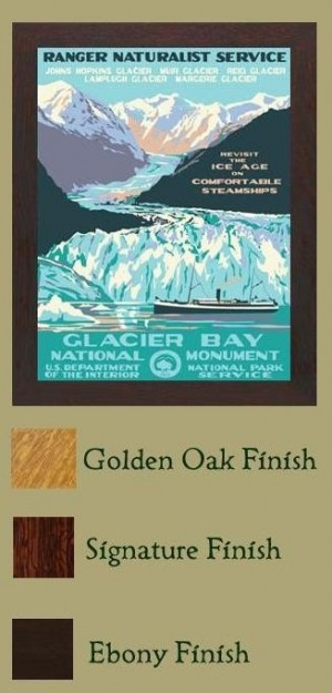 GLACIER BAY NATIONAL MONUMENT, A Poster in the WPA tradition - Product Image