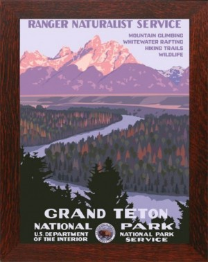 Grand Teton National Park, WPA-Style Poster - Product Image