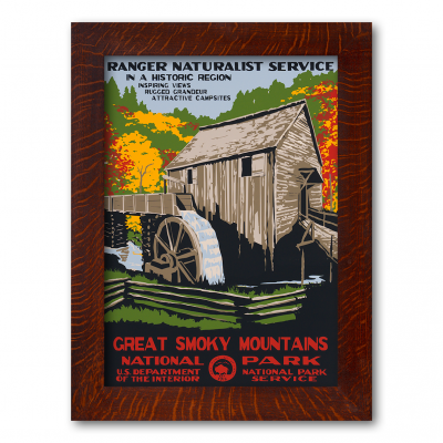 GREAT SMOKY MOUNTAINS MILL, A Poster in the WPA tradition - Product Image