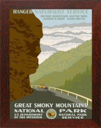 GREAT SMOKY MOUNTAINS NATIONAL PARK, Reproduction WPA Poster - Product Image
