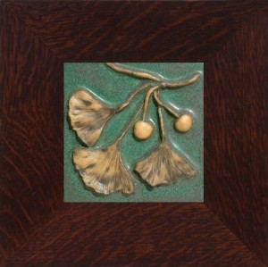 "Ginkgo & Fruit 6"" Tile - Product Image"