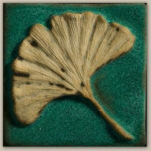 """Ginkgo Leaf 4"""" Tile - Product Image"""