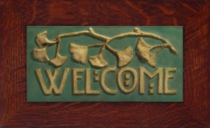 "Ginkgo Welcome 12"" x 6"" Tile - Product Image"