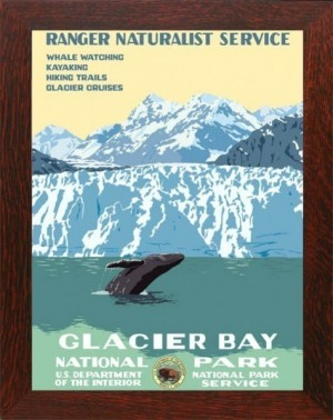 GLACIER BAY NATIONAL PARK, WPA Framed Poster - Product Image