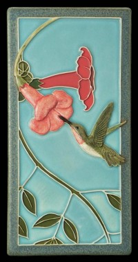 Hummingbird I 4x8 tile, by artist John Beasley - Product Image