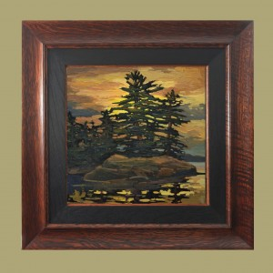 Little Silhouetto Of A Pine by Jan Schmuckal - Product Image