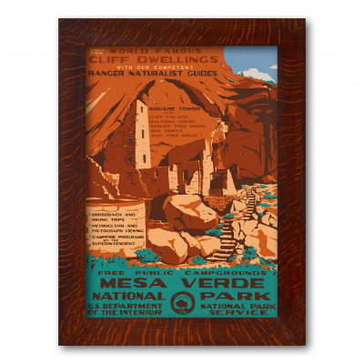 MESA VERDE NATIONAL PARK, A Poster in the WPA tradition - Product Image