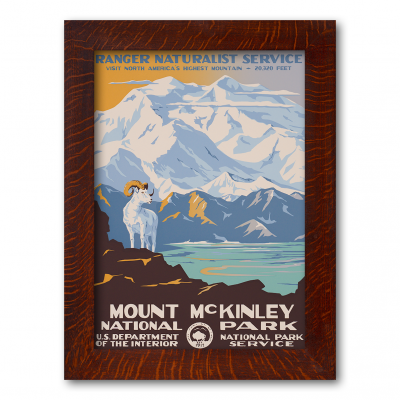 MOUNT MCKINLEY NATIONAL PARK, A Poster in the WPA tradition - Product Image